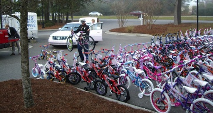 Motorcycles Presiodent Toys For Tots : Ecb rotarians donate bikes to toys tots east